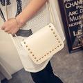 2017 Korean Style Women Messenger Bag Rivet PU Leather Crossbody Shoulder Bags Small Square Clutch Handbags