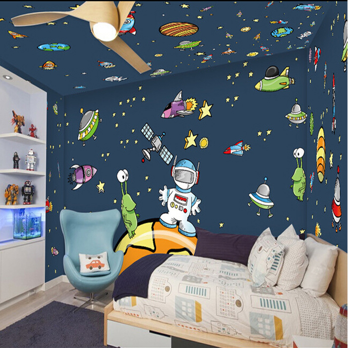 Online buy wholesale ceiling wallpaper galaxy from china Wallpaper for childrens room