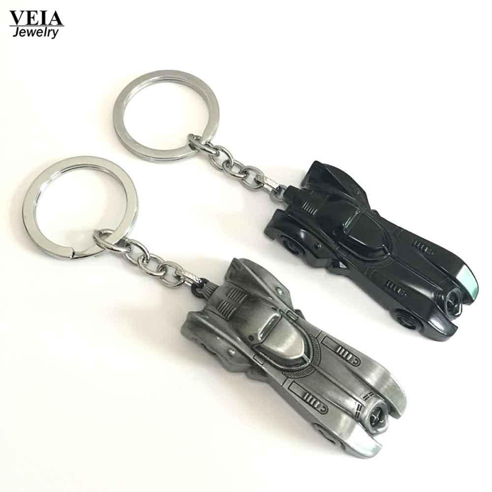 The dark knight Batman Car Model Batmobile Metal Keychains Pendant Key Chain BatMan VS Superman Key Ring 2 Colors <br><br>Aliexpress