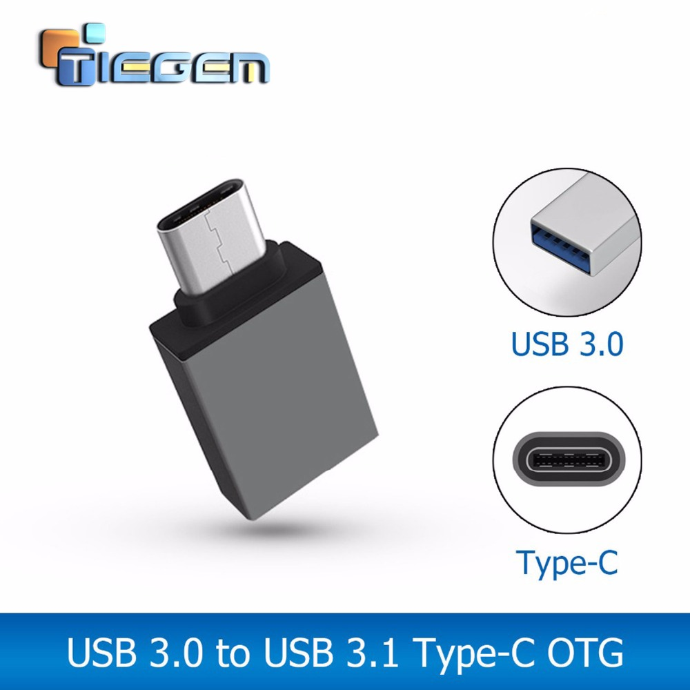 TIEGEM Metal USB C Type C Male to USB 3.0 Female Converter ...