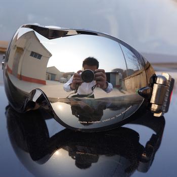 2015 высокая - конец лыжные очки двухслойные большие сферические лыжные маски совместимость 100% уф-защиты anti-туман сноуборд очки