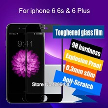 Toughened Screen Protector For iphone 6 6s & 6 Plus Tempered Glass Full Cover 3D Curved Edge Titanium Protective Film
