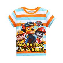 Spedizione gratuita! più nuovo manica corta t-shirt del fumetto patrol maglietta dei ragazzi per le ragazze nova t-shirt bambini abbigliamento per bambini vestiti(China (Mainland))
