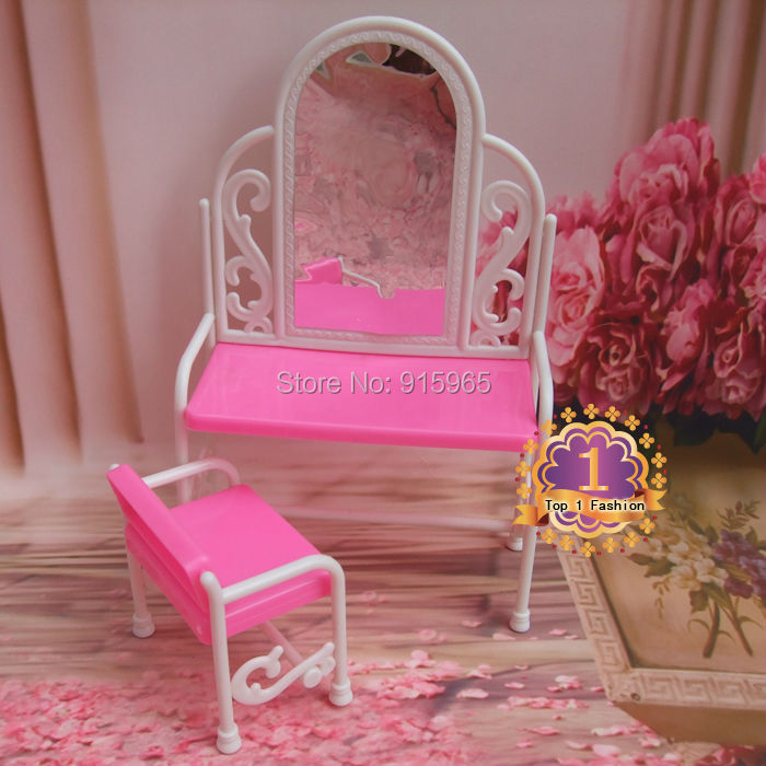 Гаджет  10 sets/lot wholesales accessory for 1/6 BJD doll, kids play house furniture dressing table set for barbie doll None Игрушки и Хобби