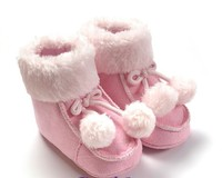 Infant Newborn Girls Pink Winter Casual Pram First Walker Prewalkers Princess Toddler Winter Boots