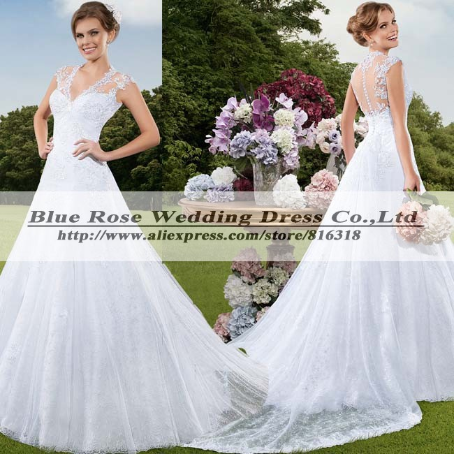 Buy vestido de noiva plus size princesa for Plus size country western wedding dresses