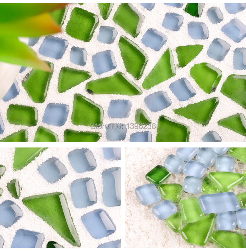 LSZYS03,green glass wall tile bubble glass mosaic kitchen bathroom tile<br>