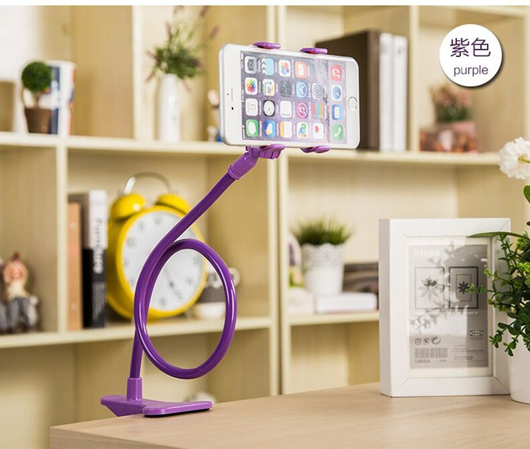 Universal Lazy Android Mobile Phone Clip Holder GPS Desk Bed Stand Bracket 360Rotating Mount For iPhone4 5 6 6S Plus for samsung