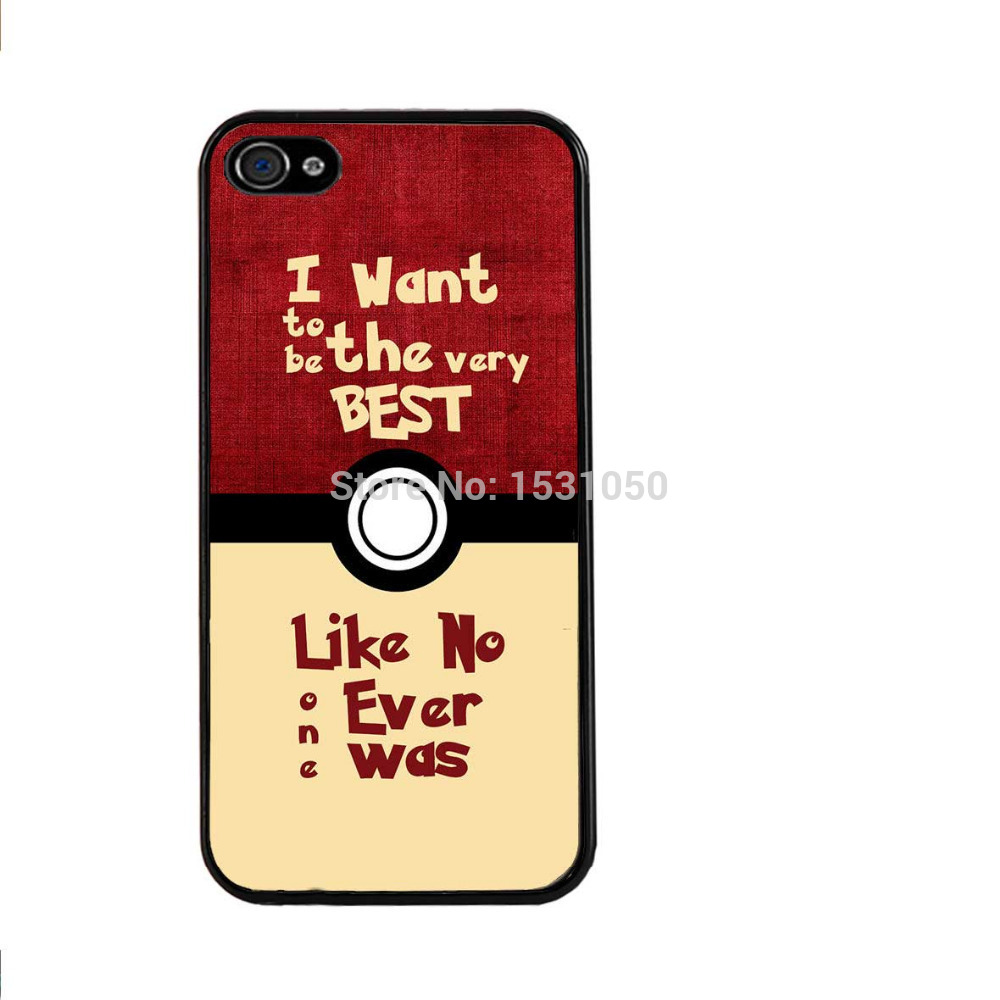 The Pokemon quotes Phone Case for iPhone 4s 5s 5c 6 6s Plus iPod Touch 4 5 6 Samsung Galaxy s2 s3 s4 s5 mini s6 s7 Note 2 3 4 5(China (Mainland))