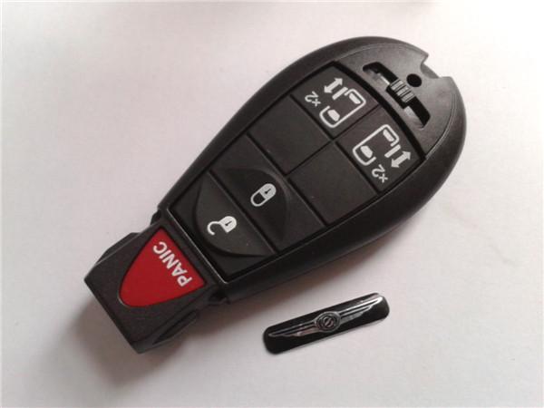 wholesale car keys chrysler 4+1 button remote key cover chrysler grand voyager key chrysler fobik key(China (Mainland))