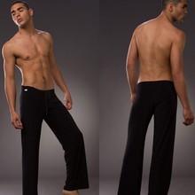 Men's yoga twinset tops+pants comfortable ice silk fabric sleep Sleepwear causal Home family pyjamas Night  bath clothes sweater(China (Mainland))
