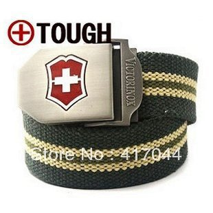 Top-quality Military Belt Men's Thicken Canvas Belt with Automatic Buckle Original Factory Supply Free Shipping Wholesale