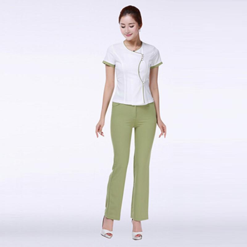 Free Shipping New Style Slim Dental Clinic Nurse Uniforms Female Medical Uniform SPA Work Wears Hospital Uniform Plus Size(China (Mainland))