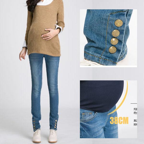Нижний кнопки для беременных джинсы пресс брюки для беременных женщины весна осень ...