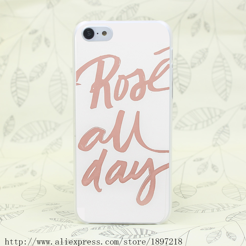 4034T Rose All Day Hard Transparent Cover Case for iphone 4 4s 5 5s 5C SE 6 6s Clear Cell Phone Cases(China (Mainland))