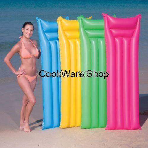 INFLATABLE MATTE LOUNGER FLOAT BEACH SWIMMING POOL AIR MAT BED(China (Mainland))
