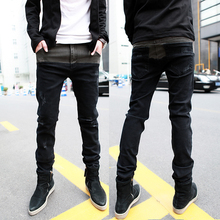 autumn hot-selling male jeans trousers cool trend of the trousers bottoms(China (Mainland))