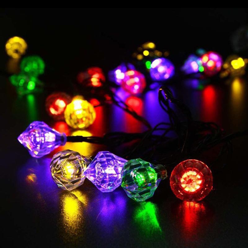 Garden Lawn Waterproof Solar Lamp 4.8M 20LEDs Wedding Fairy Diamond LED Light Christmas Decoration Solar String Light(China (Mainland))