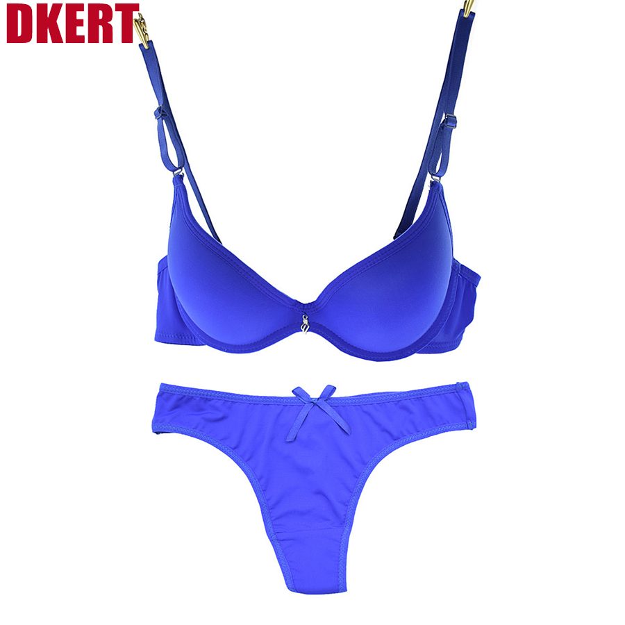 DKERT Romantic Brand Push Up Bra Set Fashion Thong Bra And Panty Set Seamless Sexy ABC Cup Bra Brief Sets(China (Mainland))