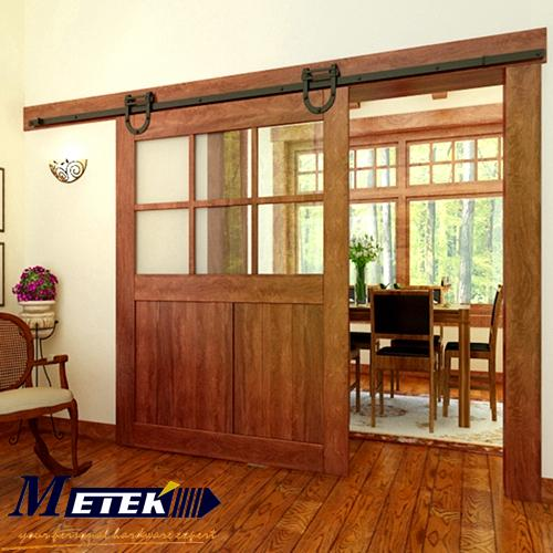Free shipping sliding barn doors hardware interior iron entry door USD ...