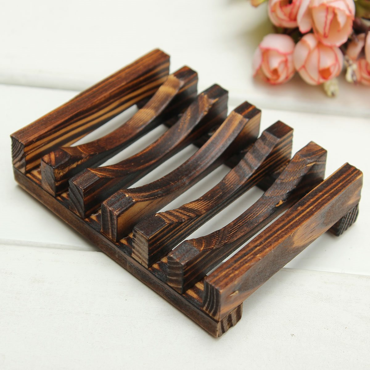Beautiful design trapezoid wooden handmade for Cuisine wooden
