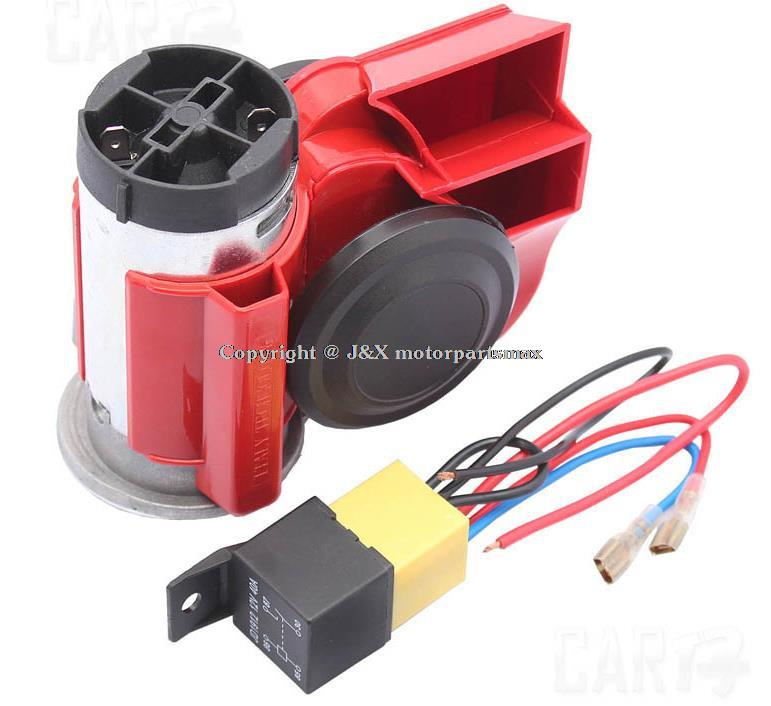 Auto and motorcycle air horn air pump 12V pose tweeter ultra loud siren package continued electrical outlet(China (Mainland))