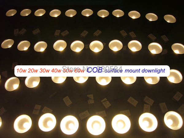2015 New design super bright LED downlight fixed mount round lamp 10w=3 20w=4 30w=5.5 40w=5.5 50w=5.5 60w=5.5 NO cut hole <br><br>Aliexpress