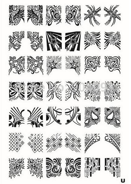 Chegada XL tamanho médio de placas Nail Art DIY Stamping Stencil imagem selo polonês Manicure ferramentas selo