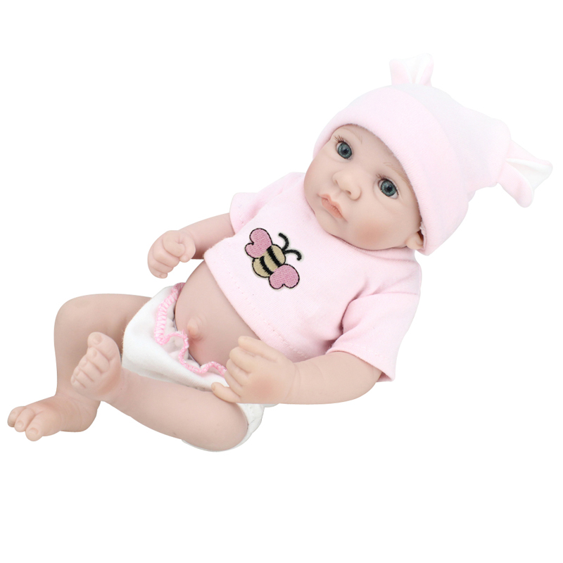 mini full silicone reborn baby girls dolls toys kids gift newborn baby