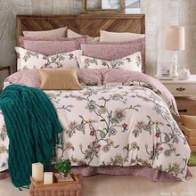 Fashion classical plant bedding set modern cartoon bed linen flower bedspreads duvet cover sets sheet twin full queen king size(China (Mainland))