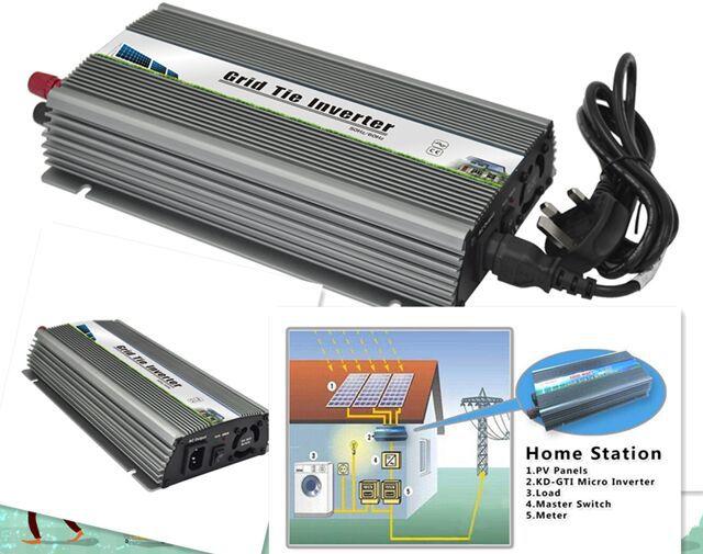 1000W 110V or 220V micro grid tie inverter for solar home system MPPT,DC 20-45V DC tie power(China (Mainland))