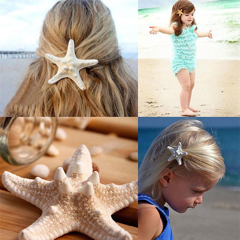 2014 New Hair Accessories Jewelry,2pcs/lot Women Girls New Nice Beach Hair Accessory Starfish Sea Star Hair Clip Hairpin Jewelry(China (Mainland))
