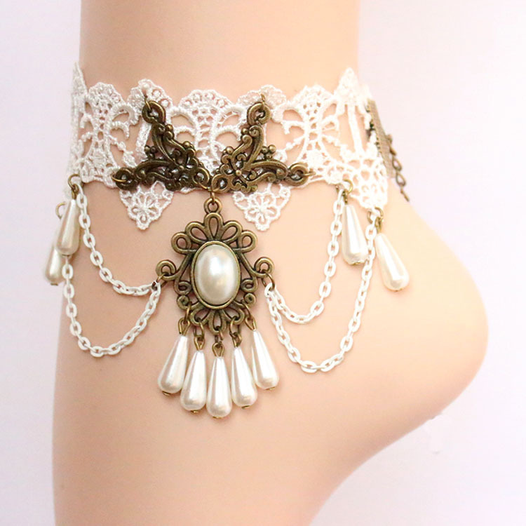 Wedding Accessories Rushed Sterling Xp Jewelry 2015 New Arrival Gothic Lace Anklets Bangle Belt Female Leglet Women Accessories(China (Mainland))