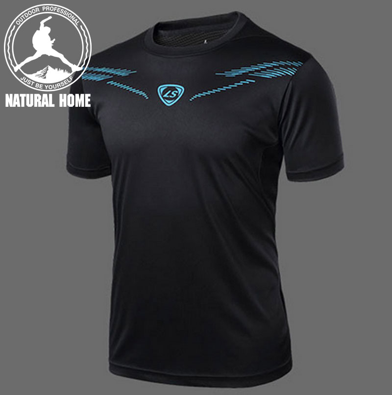 [NaturalHome] Brand New sports mma compression shirt mens running gym bodybuilding compressed short sleeve t shirt(China (Mainland))