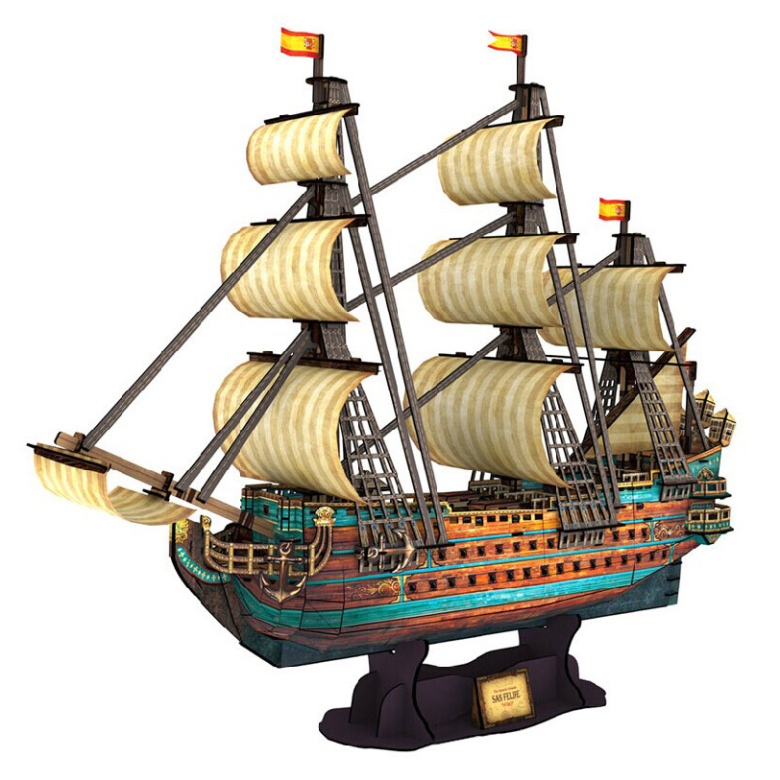 Development of intelligence,Educational toys,good quality,foam,emulational,toys,paper model,1:110,St Philip ship,3D PUZZLE(China (Mainland))