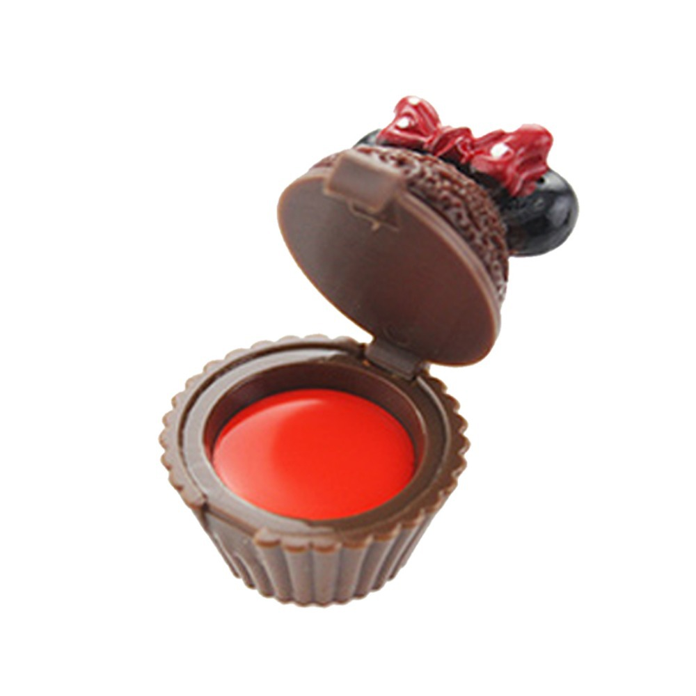 fashional lovely cute cake/icecream /flower Beauty style Make up fruit red Makeup Lip Gloss colorful free shipping(China (Mainland))