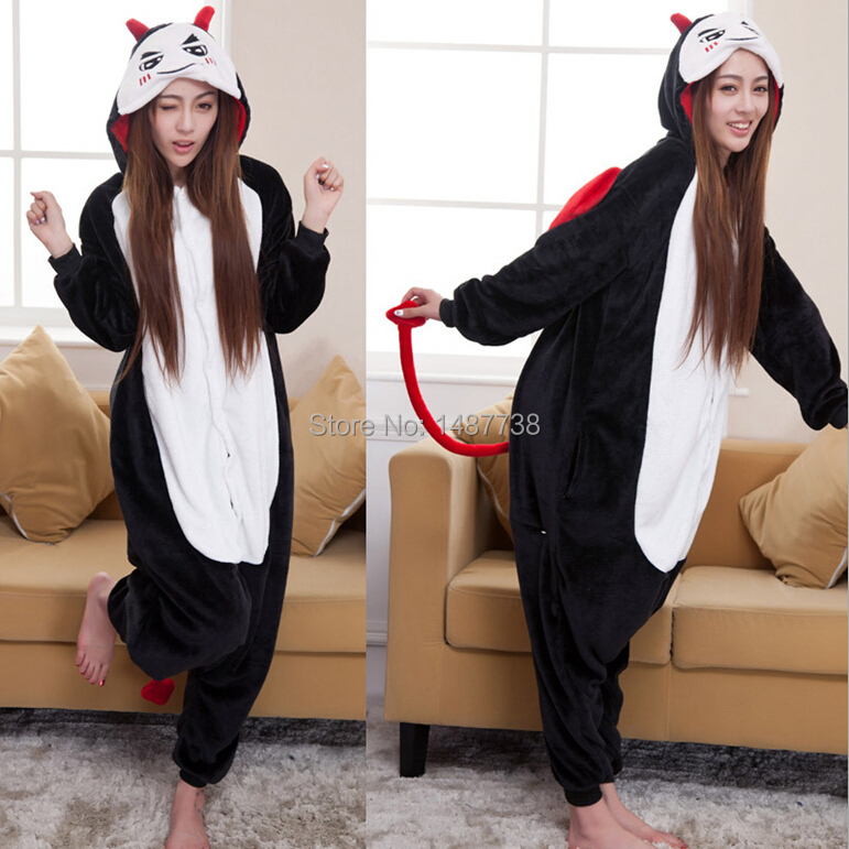 Adult Devil Pajamas Unisex Onesie Animal Cosplay Party Costume Girls Fancy Dress(China (Mainland))