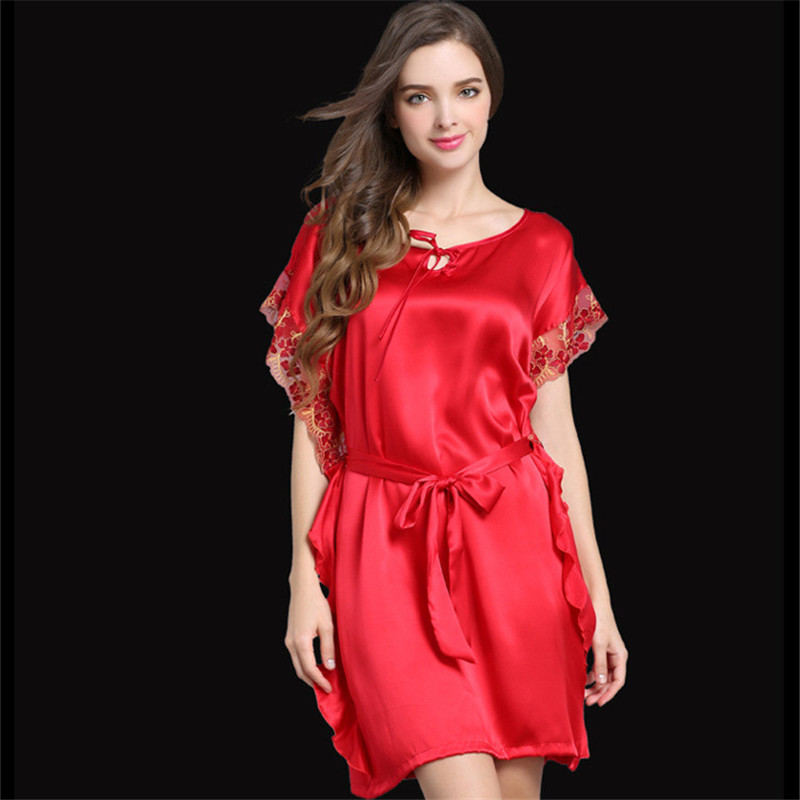 Plus Size Sexy Silk Pajamas Promotion-Shop for Promotional Plus ...