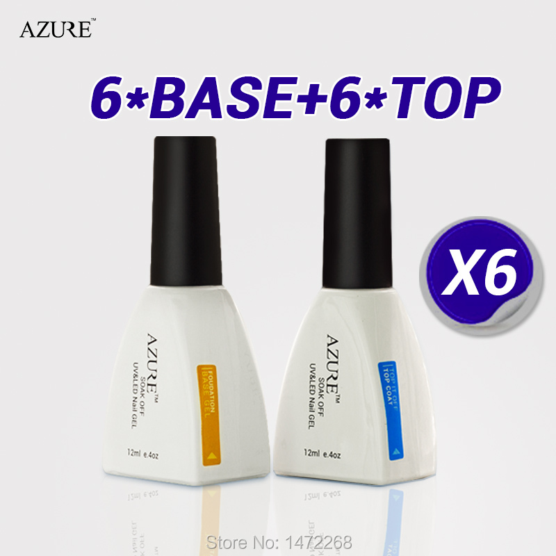 2015 Azure nail primer and top coat Nail Gel finish gel Base Coat Foundation for UV Gel Polish high quality free shipping(China (Mainland))