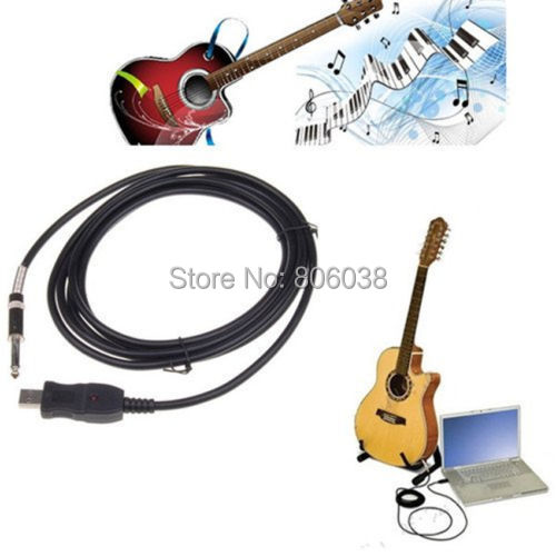3M USB PC Guitar Bass Link Recording Audo Adapter Cable Free Shipping(China (Mainland))