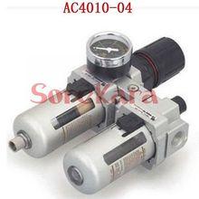 AC4010-04 Manual Drain G1/2 inch Air Filter Regulator Source Treatment Unit F.R.L Combination SMC Type NEW - SOREKARA store
