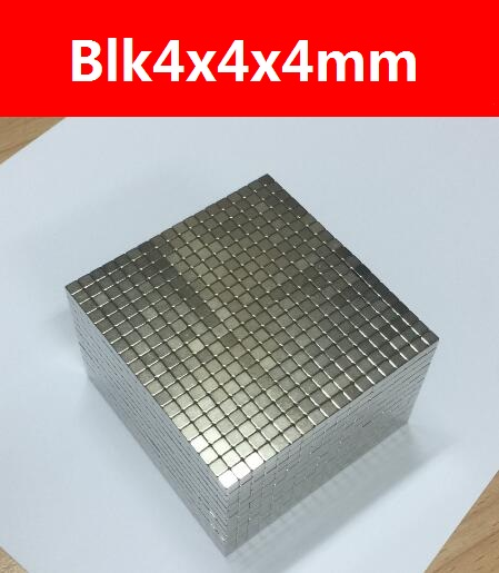 125PCS Neo cube Magnetic Permanent magnet cube, 4x4x4mm,magnet,DIY magnet, bucky magnet, Free shipping(China (Mainland))