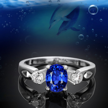 LOWAY 3 Colors Blue Red AAA Cubic Zirconia Anelli Silver Plated Mujer Bague Femme Women Fashion Rings for Women 2015 JZ5635(China (Mainland))
