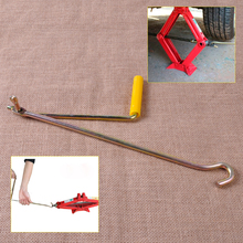 Metallic Color Car Van Garage Steel Tire Wheel Lug Wrench Scissor Jack Crank Speed Handle Car Lift Tool for Scissor Jack Lifter(China (Mainland))