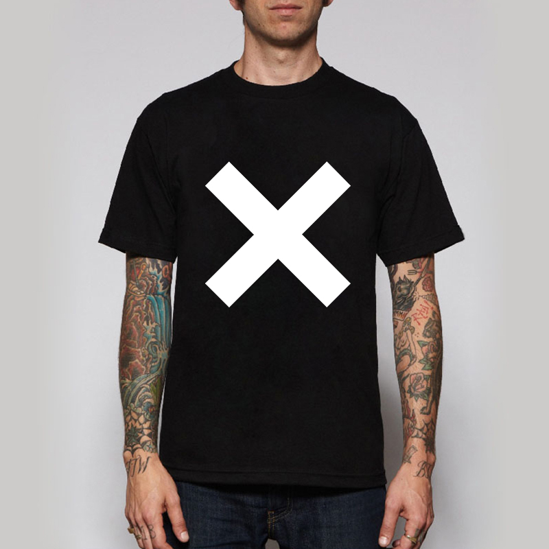 The XX Rock Band Logo Tees Short Sleeve O-neck Tshirts Cross Alternative T-shirts Mens Retro Rock Music T Shirts(China (Mainland))