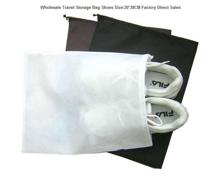 20pcs/lot Wholesale Travel Storage Shoes Bag Size:30*38CM Factory Direct Sales(China (Mainland))