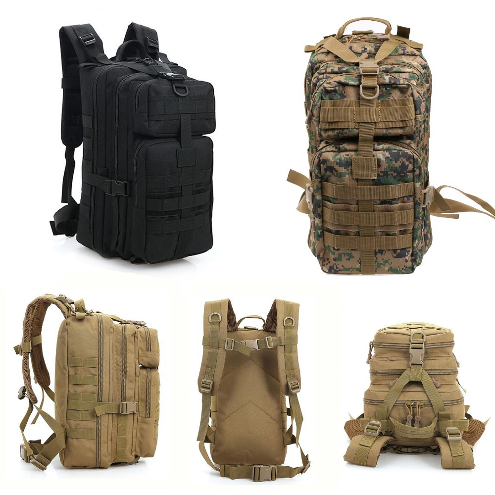 Waterproof Travel Herschel Canvas Backpack Army Bag Vintage Backpack Men Outdoor Military Tactical Backpack Camping Hiking Bag(China (Mainland))