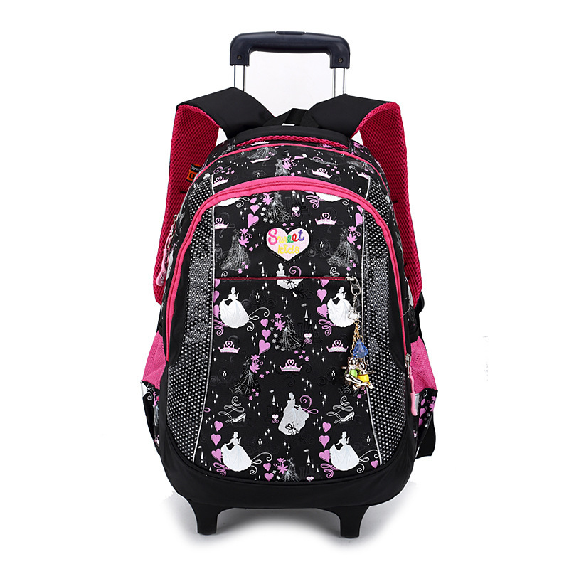 Women's Backpack Trolley School bag For Girl Ladies Teenagers Backpack with Wheels Casual Travel bags Schoolbag Bagpack Bolsos