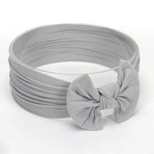 Nowe miękkie do włosów opaska do włosów z nylonu z pałąkiem na głowę cukierki kolor elastyczne opaski do włosów dla niemowląt koreański mody akcesoria biżuteria(China)