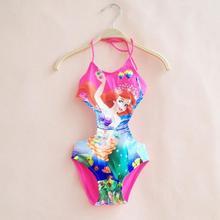 Mermaid New 2015 Children Girls Swimwear Kids Swimsuit One Piece Baby Girls Swim suit cute girls swiming wear k15